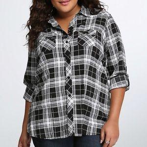 Torrid Plaid Button Down Shirt Women's Plus 2